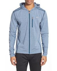 Lacoste | Blue 'sport' Double Face Zip Hoodie for Men | Lyst