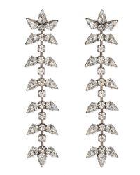 DANNIJO | White Ariel Linear Crystal Earrings | Lyst