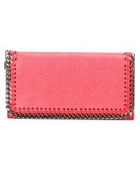Stella McCartney | Pink Falabella Flap-top Wallet | Lyst