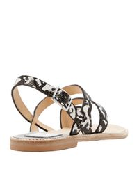 Dolce Vita | Black Nelley Embossed Leather Sandals | Lyst