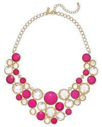 INC International Concepts | Pink Gold-tone Fuchsia Circle Bib Necklace | Lyst