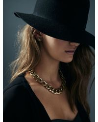 Jenny Bird - Metallic Riri Collar - Gold - Lyst