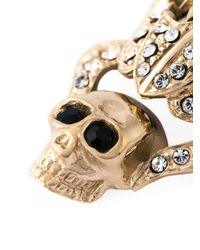 Givenchy - Black Dropped Skull Earrings - Lyst