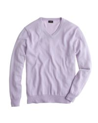 J.Crew - Purple Tall Italian Cashmere V-neck Sweater for Men - Lyst