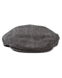 Dolce & Gabbana - Gray Herringbone Flat Cap for Men - Lyst