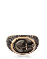 Bonato Milano 1960 | Black Heart Chevalier Ring for Men | Lyst