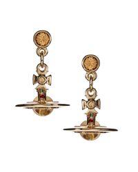 Vivienne Westwood | Metallic Petite Orb Earrings | Lyst