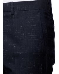 Theory | Blue 'jake W' Cross Hatch Stitching Pants for Men | Lyst