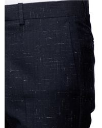 Theory - Blue 'jake W' Cross Hatch Stitching Pants for Men - Lyst