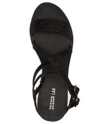 Lord & Taylor   Black Chernin Glitter Sandals   Lyst