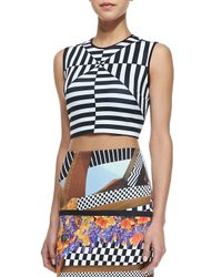 Clover Canyon - Black Lautner Land Printed Crop Top - Lyst