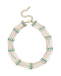 House of Harlow 1960 - Metallic 1960 Layered Chain Choker - Lyst
