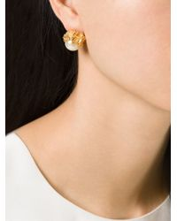 Alighieri | Metallic Pearl Stud Earrings | Lyst