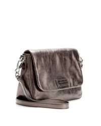 Marc By Marc Jacobs - Brown Lea Metallicleather Shoulder Bag - Lyst