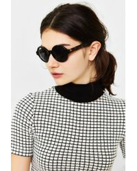 Urban Outfitters - Black Autumn Preppy Round Sunglasses - Lyst