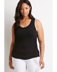 Forever 21 | Black Classic Tank | Lyst