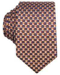 Perry Ellis - Orange Sullivan Geo Slim Tie for Men - Lyst