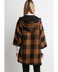 Forever 21 - Black Plaid Hooded Jacket - Lyst