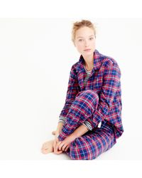 J.Crew - Multicolor Sparkle Plaid Flannel Pajama Set - Lyst