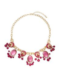 Catherine Stein | Pink Cabochon Statement Necklace | Lyst