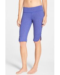 Zella | Purple 'live In' Slim Fit Knee Shorts | Lyst