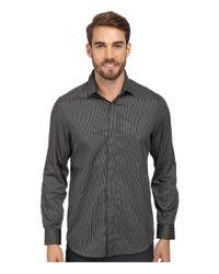 Perry Ellis | Black Textured Sportshirt for Men | Lyst