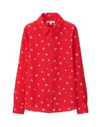 Uniqlo - Red Women Disney Project Long Sleeve Blouse - Lyst