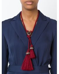 Lanvin - Pink Tasseled Rope Necklace - Lyst