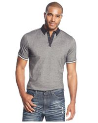 Sean John | Gray Classic Birdseye Polo for Men | Lyst