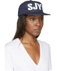SJYP | Blue Denim Logo Hat | Lyst
