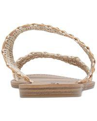 Lucky Brand - Natural Women's Alddon Two-piece Flat Slide Sandals - Lyst