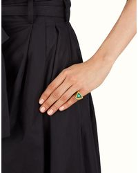 Fendi - Gray Ring Ring - Lyst