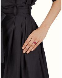 Fendi - Black Ring - Lyst