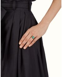 Fendi - Gray Ring Ring - Lyst