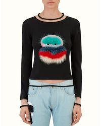 Fendi | Black Pullover Pullover | Lyst