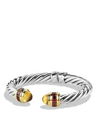 David Yurman | Metallic Renaissance Bracelet With Citrine, Rhodolite Garnet & Gold | Lyst