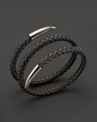 Roberto Coin | Gray Sterling Silver And Ruthenium Snake Bangle | Lyst