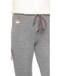 Sundry - Gray Stars And Hearts Skinny Sweatpants - Lyst