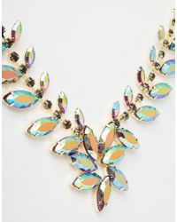Little Mistress | Multicolor Iridescent Statement Necklace | Lyst