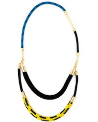 Marni - Black Rope Necklace - Lyst