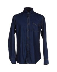 Baldessarini | Blue Denim Shirt for Men | Lyst