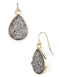 Marcia Moran | Metallic Drusy Teardrop Earrings | Lyst