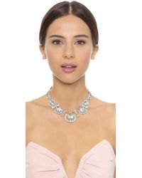 kate spade new york - Metallic Grand Debut Gem Necklace Clear - Lyst