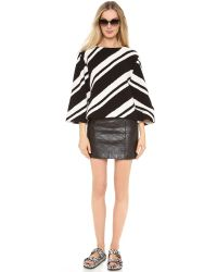 Love Leather | Black Quilted Straight Shooter Skirt | Lyst