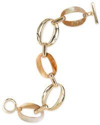 Anne Klein | Metallic Gold-tone Link Flex Bracelet | Lyst