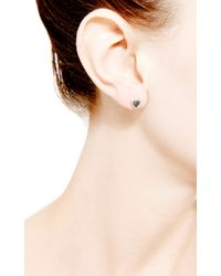 Dana Rebecca - Emily Sarah Triangle Earrings in Black Diamond - Lyst
