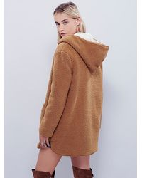 Free People | Brown Reversible Cozy Hooded Jacket | Lyst