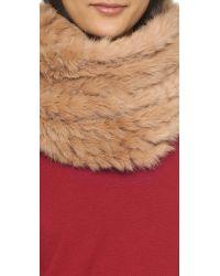 Diane von Furstenberg - Natural Fur Cable Knit Scarf - Camel - Lyst