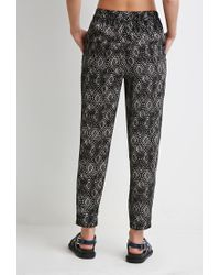 Forever 21 - Black Diamond Print Harem Pants - Lyst