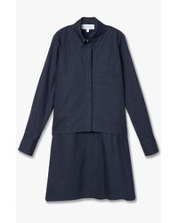 Derek Lam - Blue 2-in-1 Layered Shirtdress - Lyst